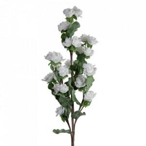Floare artificiala din polietilena si fier 94 cm Blanca Ixia