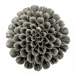Floare gri din ceramica decorativa 18x6 cm Deco Bloomingville