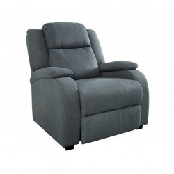 Fotoliu recliner gri din poliester Hollywood Invicta Interior