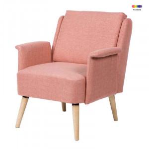 Fotoliu roz din lemn de pin si poliester Miami Pink Somcasa
