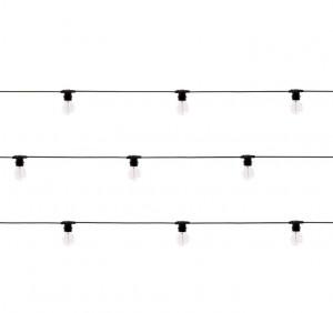 Ghirlanda luminoasa neagra cu 10 becuri LED 14,2 m Bella Vista Clear Seletti