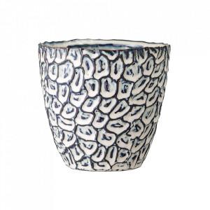 Ghiveci albastru/crem din ceramica 14 cm Fernanda Bloomingville