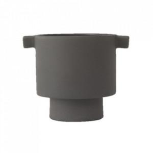 Ghiveci gri antracit din ceramica 11 cm Inka Kana Oyoy