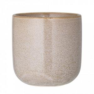 Ghiveci maro din ceramica 11 cm Round Stone Bloomingville