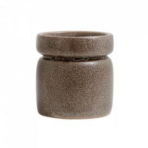 Ghiveci maro din ceramica 15 cm Isa Nordal