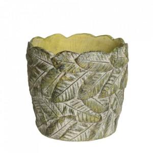 Ghiveci verde din ciment 19,5 cm Usakos Ixia
