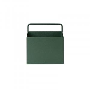 Ghiveci verde din metal pentru perete 14,6x15,6 cm Wally Ferm Living