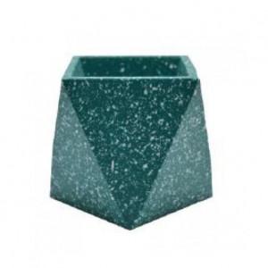 Ghiveci verde din terrazzo 9 cm Muzz Zago
