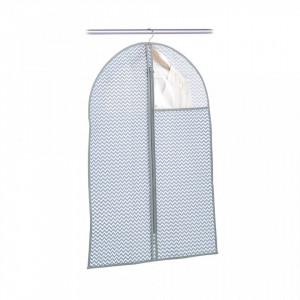Husa gri/alba din fleece pentru haine Coat Hanger Window White Zeller