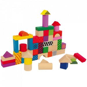 Jucarie de construit 50 piese din lemn de mesteacan si plastic Philip Small Foot