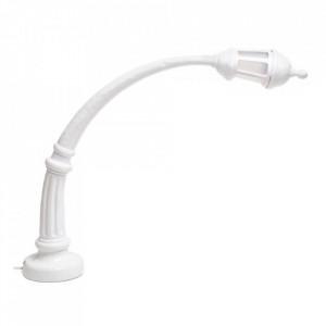 Lampa birou alba din plastic si rasina 59 cm Street Sidonia Seletti