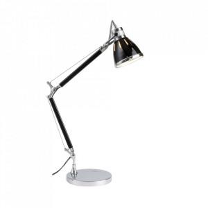 Lampa birou argintie/neagra din metal 47,5 cm Octavia Brilliant