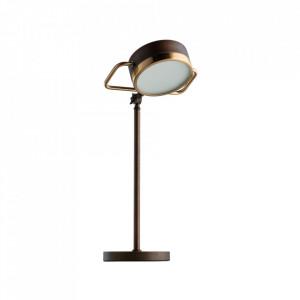 Lampa birou maro din metal si sticla 51 cm Hamburg MW Glasberg