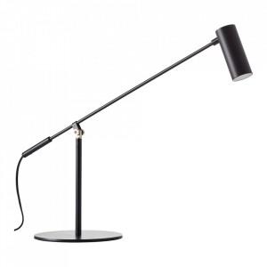 Lampa birou neagra din metal cu LED 74 cm Soeren Brilliant
