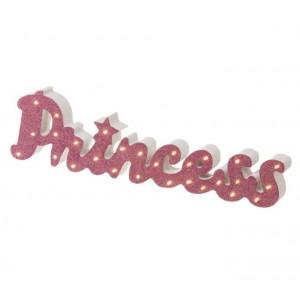 Lampa de veghe alb/roz din MDF Princess Unimasa
