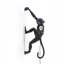 Lampa perete neagra 37×20,5cm The Monkey Right Seletti