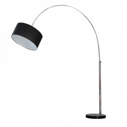 Lampadar ajustabil negru din metal si in 170-200 cm Big Bow Invicta Interior