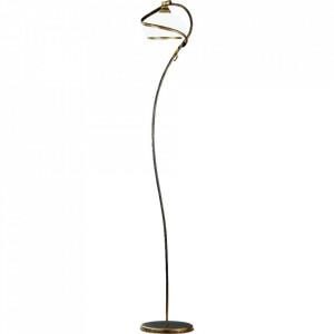 Lampadar alb/auriu antic din sticla si metal 173 cm Retro I Aldex