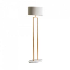 Lampadar alb/auriu din fier si poliester 155 cm Sarah Vical Home