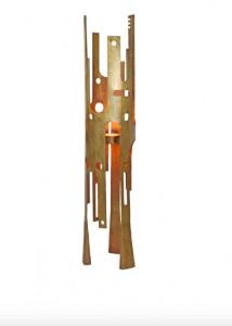 Lampadar dimabil maro din aluminiu cu 2 becuri 165 cm Savage Bronze Floor Versmissen