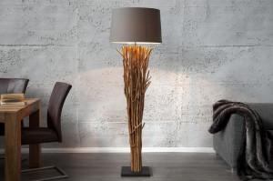 Lampadar maro/gri din lemn si bumbac 175 cm Euphoria Invicta Interior