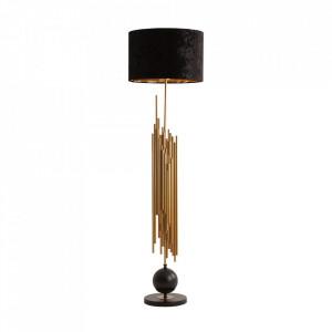 Lampadar negru/auriu din poliester si fier 158 cm Felicia Vical Home