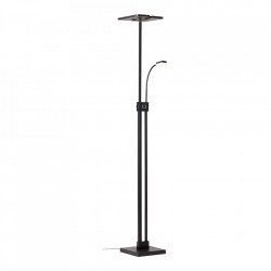 Lampadar negru din plastic si metal cu 2 LED-uri 230 cm Forrester Brilliant