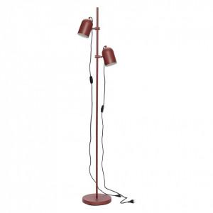 Lampadar rosu cu 2 becuri Cilinder Hubsch