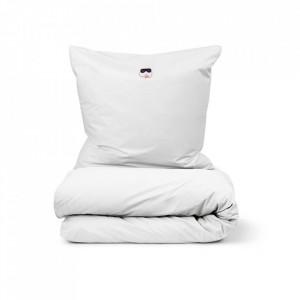 Lenjerie de pat alba din bumbac 140x200/60x63 cm Snooze Normann Copenhagen