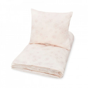 Lenjerie pat roz din bumbac 70x100/40x45 cm Dandelion Cam Cam