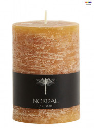 Lumanare maro din parafina 10 cm Amber Candle Nordal