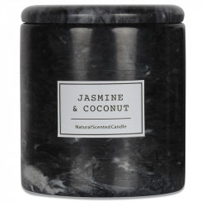Lumanare parfumata cu suport negru din marmura 11 cm Jasmine Opjet Paris