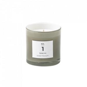 Lumanare parfumata din sticla 8 cm Parsley Lime Illume x Bloomingville