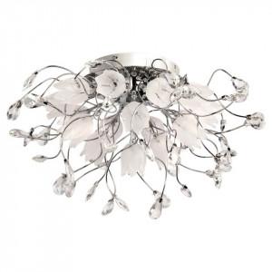 Lustra argintie din metal cu 16 becuri Flora Erna MW Glasberg