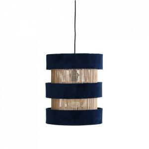 Lustra maro/albastra din ratan si catifea Suave Rings Raw Materials