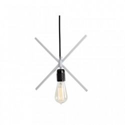 Lustra metalica alba 25 cm Xlamp Custom Form