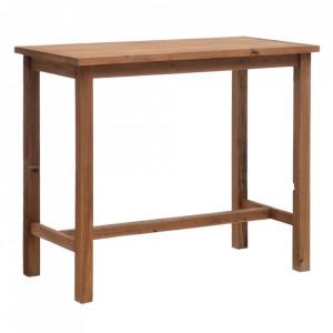 Masa bar maro din lemn reciclat 66x125 cm Inissia Ixia