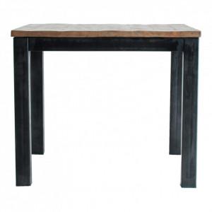 Masa bar maro/neagra din lemn si fier 90x90 cm Julia Vical Home