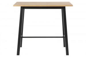 Masa bar maro/neagra din lemn si metal 58x117 cm Chara Black Actona Company