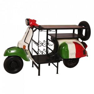 Masa bar multicolora din lemn si metal 66x170 cm Italy Sit Moebel