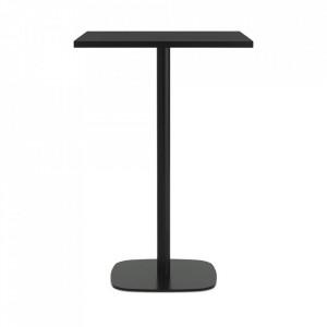 Masa bar neagra din lemn si otel 70x70 cm Form Normann Copenhagen