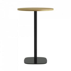 Masa bar neagra/maro din otel 70 cm Form Normann Copenhagen