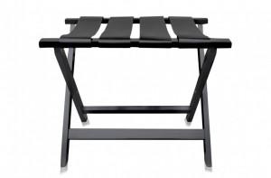 Masa cafea neagra din lemn 70x50cm Luggage Rack Versmissen
