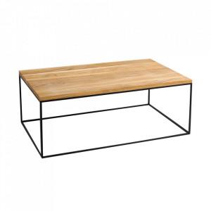 Masa de cafea maro/neagra din lemn si metal 80x140 cm Tensio Custom Form