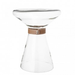 Masa din sticla transparenta 35x43 cm Bloomingville