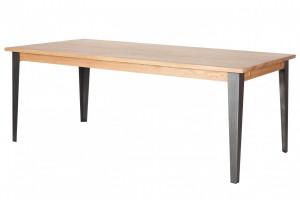 Masa dining din lemn de stejar 100x200 cm Manhattan Zago