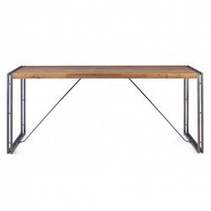 Masa dining din lemn si metal 180x90 cm Omega Zago