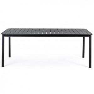 Masa dining gri carbune din aluminiu pentru exterior 100x202 cm Rodrigo Bizzotto