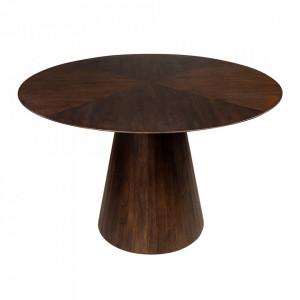Masa dining maro din lemn de mindi 120 cm Congo Versmissen