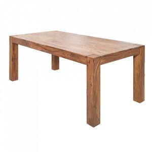 Masa dining maro din lemn de palisandru indian 90x160 cm Makassar Invicta Interior